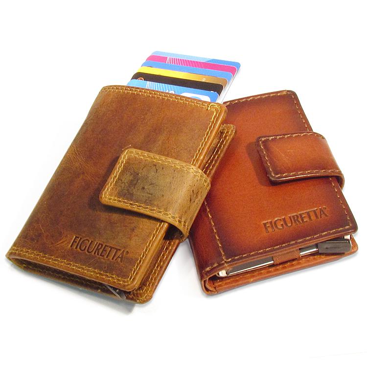 Figuretta RFID Leder adventure + muntgeld Cardprotectors