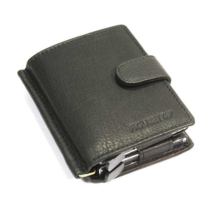Lederen portemonnee met 2 pasjeshouders