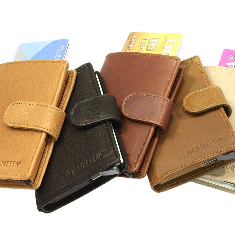 Figuretta RFID Leder met briefgeldvak Cardprotectors