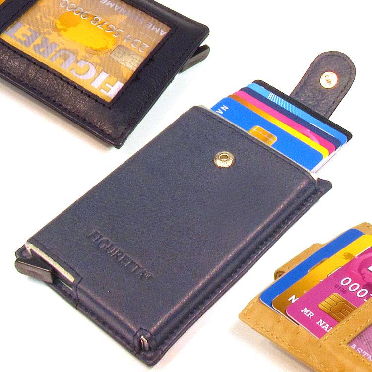 Figuretta RFID Cardprotector leder single sleeves