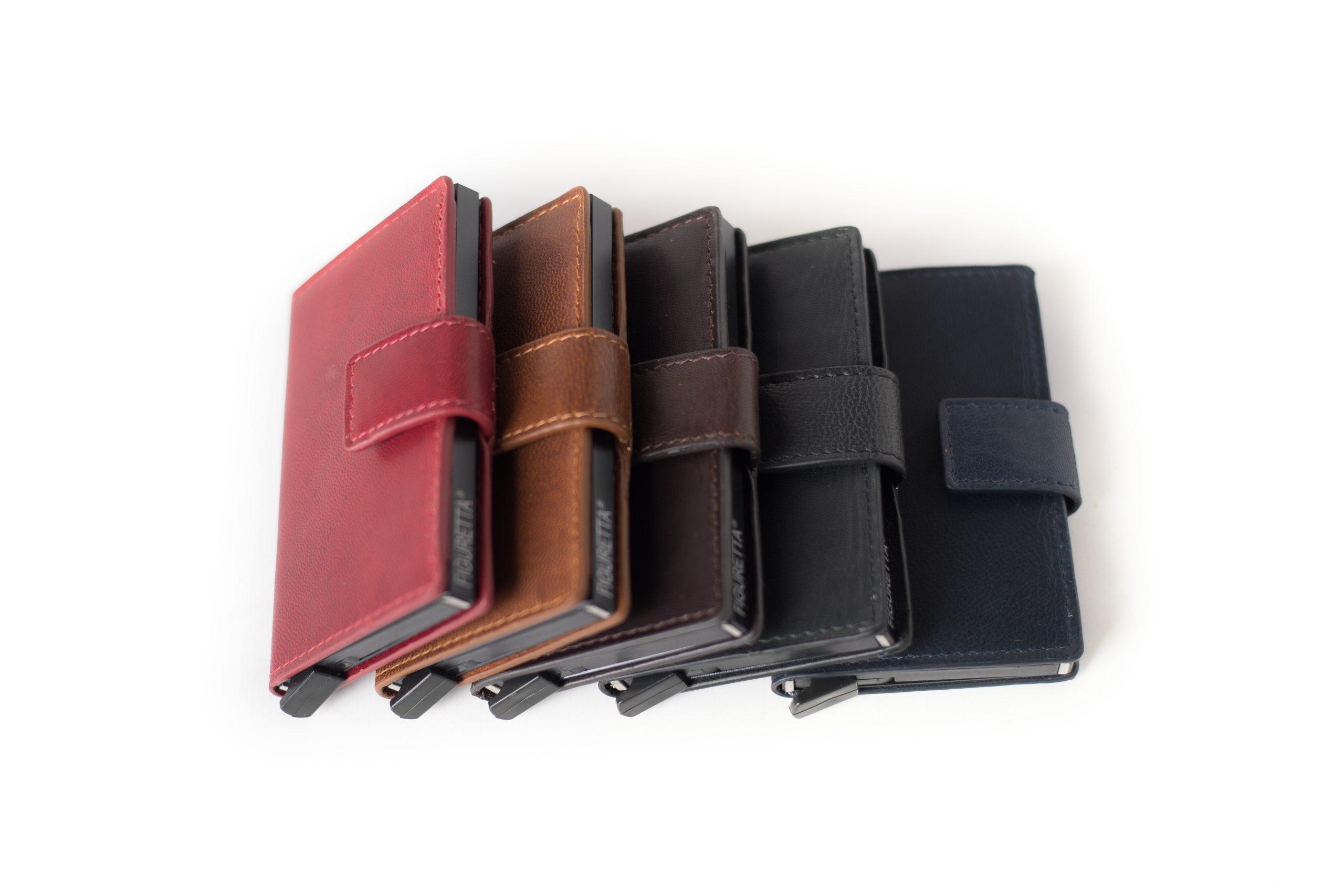 Figuretta RFID Compacte Luxury Leather Goat VT Cardprotectors